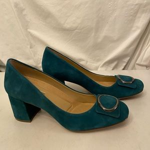 Naturalizer green suede shoes NEW